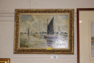 Leslie Rackham, 1864 - 1944, oil on board entitled