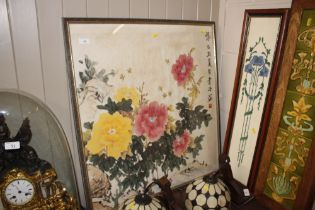 An oriental watercolour study of peonies