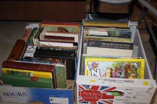 Two boxes of miscellaneous books