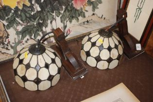 A pair of Tiffany style wall lights