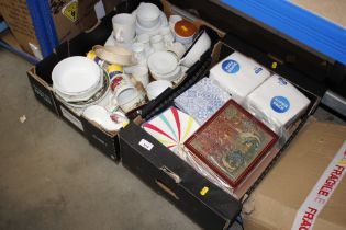 Two boxes of various sundry china etc