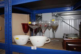 A quantity of glassware etc