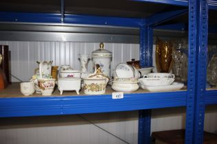 A quantity of sundry china to include Crown Staffo