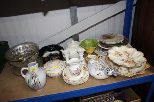 A quantity of sundry china and glassware to includ