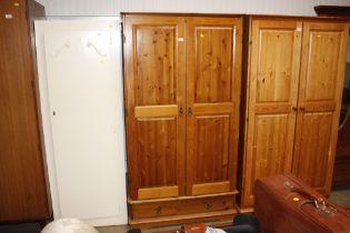 A modern two door wardrobe