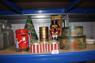 A quantity of various tins