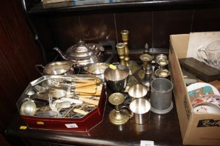 A quantity of various silver plated items to inclu
