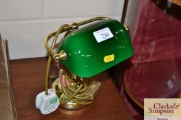 A students style table lamp