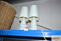 A pair of table lamps and shades