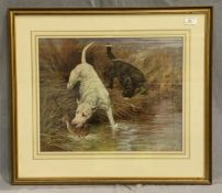 MAUD EARL (1863-1943) a framed print 'A Morning Nip' 37 x 45cm signed to bottom right hand corner