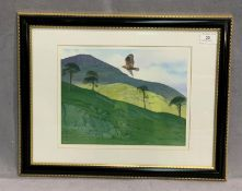 Michael Miller framed watercolour 'Golden Eagle' 23 x 29cm signed to bottom right complete with