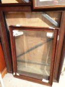 3 large glazed oak frames