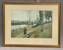 James Patterson framed print 'Montatue? 1885' 44 x 64cm