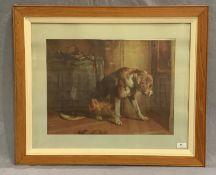 A framed print 'Guilty' 37 x 49cm