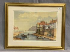 JACK GREEN framed Ltd Edition print - harbour scene - Staithes? 33 x 48cm signed in pencil and No.