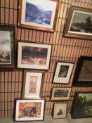 Four various framed prints - Farquarson,