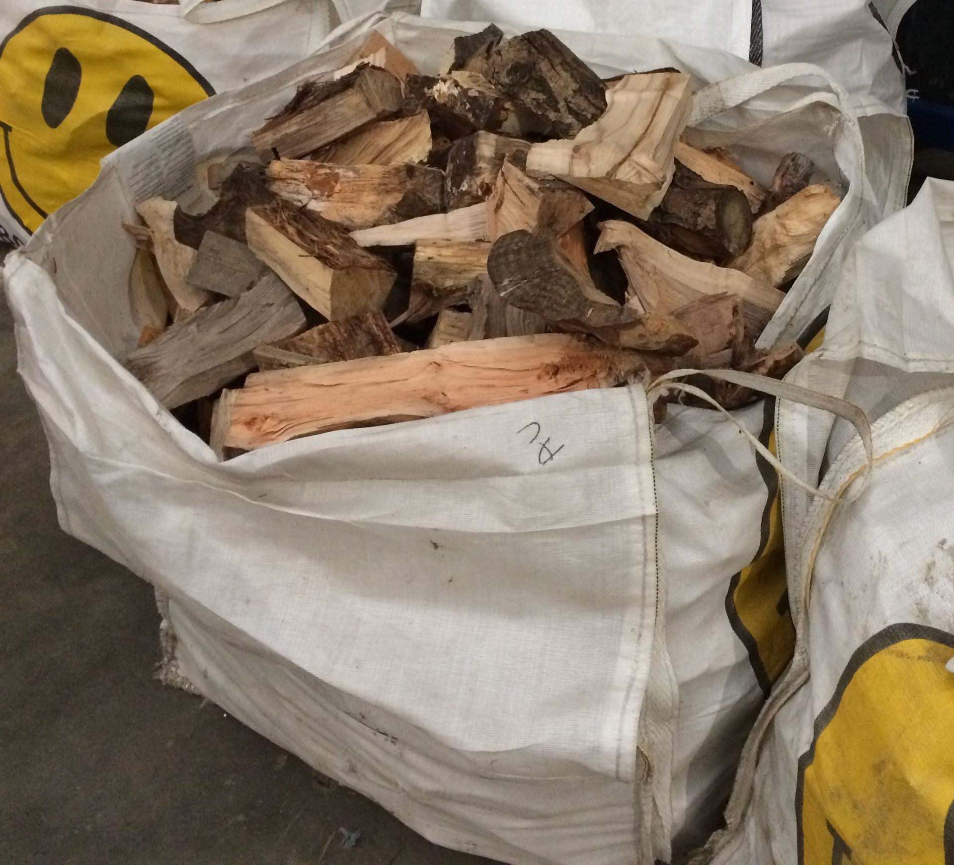 Large bag of dried logs