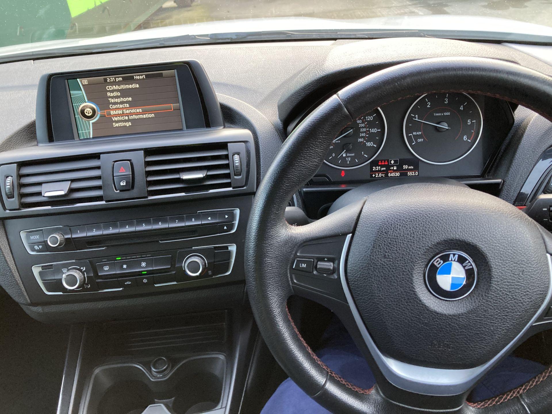 BMW 116D SPORT 2.0 (1995cc) 5 door hatchback - diesel - white Reg. No: YF12 YRZ Rec. - Image 14 of 19