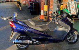 ON BEHALF OF THE INSOLVENCY SERVICE - SUZUKI BERGMAN 400 AN 400KG MOTORCYCLE - petrol - blue Reg