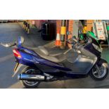 ON BEHALF OF THE INSOLVENCY SERVICE - SUZUKI BERGMAN 400 AN 400KG MOTORCYCLE - petrol - blue Reg