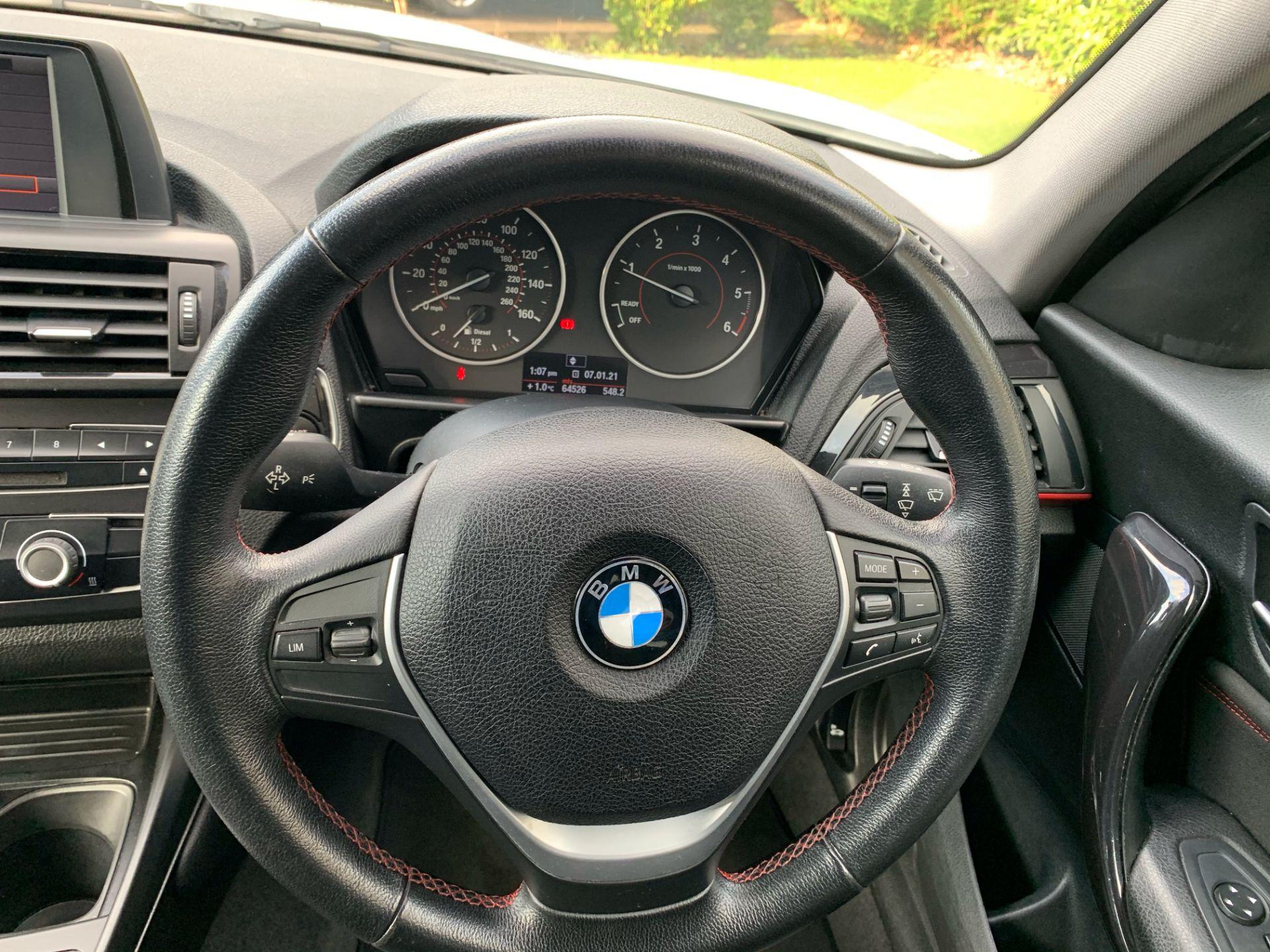 BMW 116D SPORT 2.0 (1995cc) 5 door hatchback - diesel - white Reg. No: YF12 YRZ Rec. - Image 8 of 19