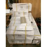 A pallet of white ceramic cloakroom pedestals - 13 x traditional ceramic sink pedestals