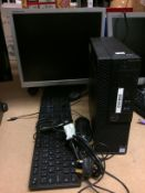 """A Dell Model D11 S personal computer complete with Samsung 17"""" monitor,"""