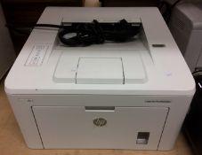 A HP Laserjet Pro M203dw printer