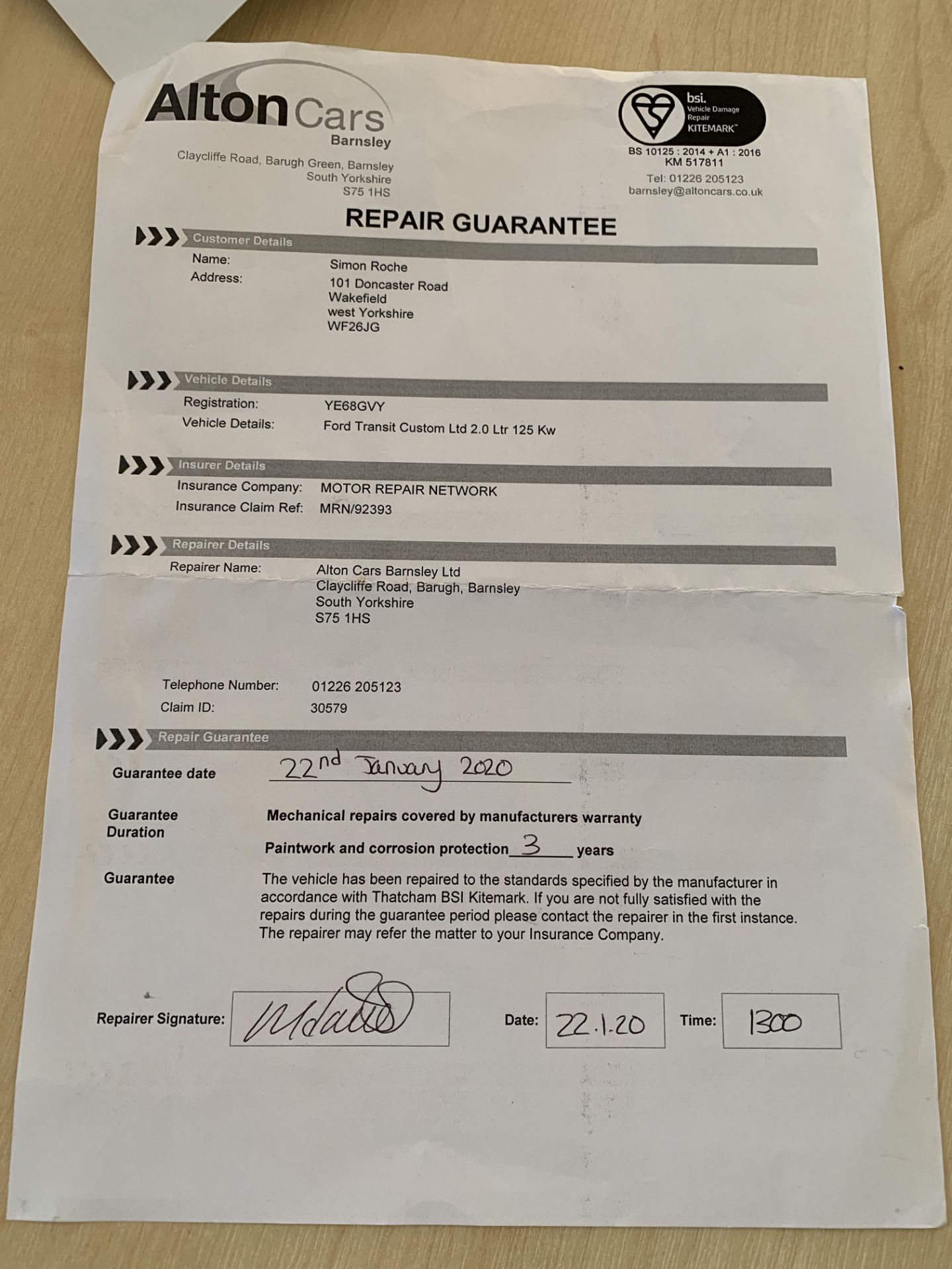 ON INSTRUCTIONS RE: A LIQUIDATION - FORD TRANSIT CUSTOM 300 LIMITED 2. - Image 16 of 16