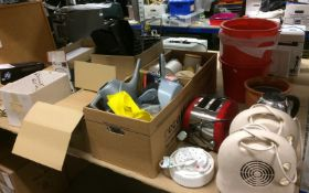 Contents to rack - corkboard, envelopes, filing trays, kettle, heaters, toaster, cups,