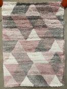 Think Rugs Royal Nomadic Living rug, rose and cream,
