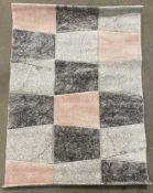 Brooklyn rug, grey and rose,