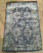 A Everek 5363A dark blue/white rectangular rug - 107cm x 167cm