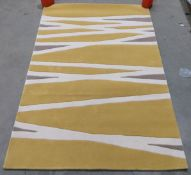 Think Rugs Elements rug, yellow and cream,.