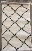 A Mint Rugs Allure Hash 102753 cream patterned rug - 80cm x 150cm