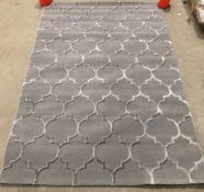 Merinos Thema rug, grey design,