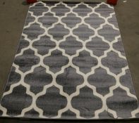 Tapiso Maroko rug, gray tile pattern,