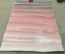 Kari Ombre rug, blush pink,