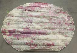Nourison Celestial Collection circular rug, pink,