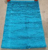 Verona Shaggy rug, teal,