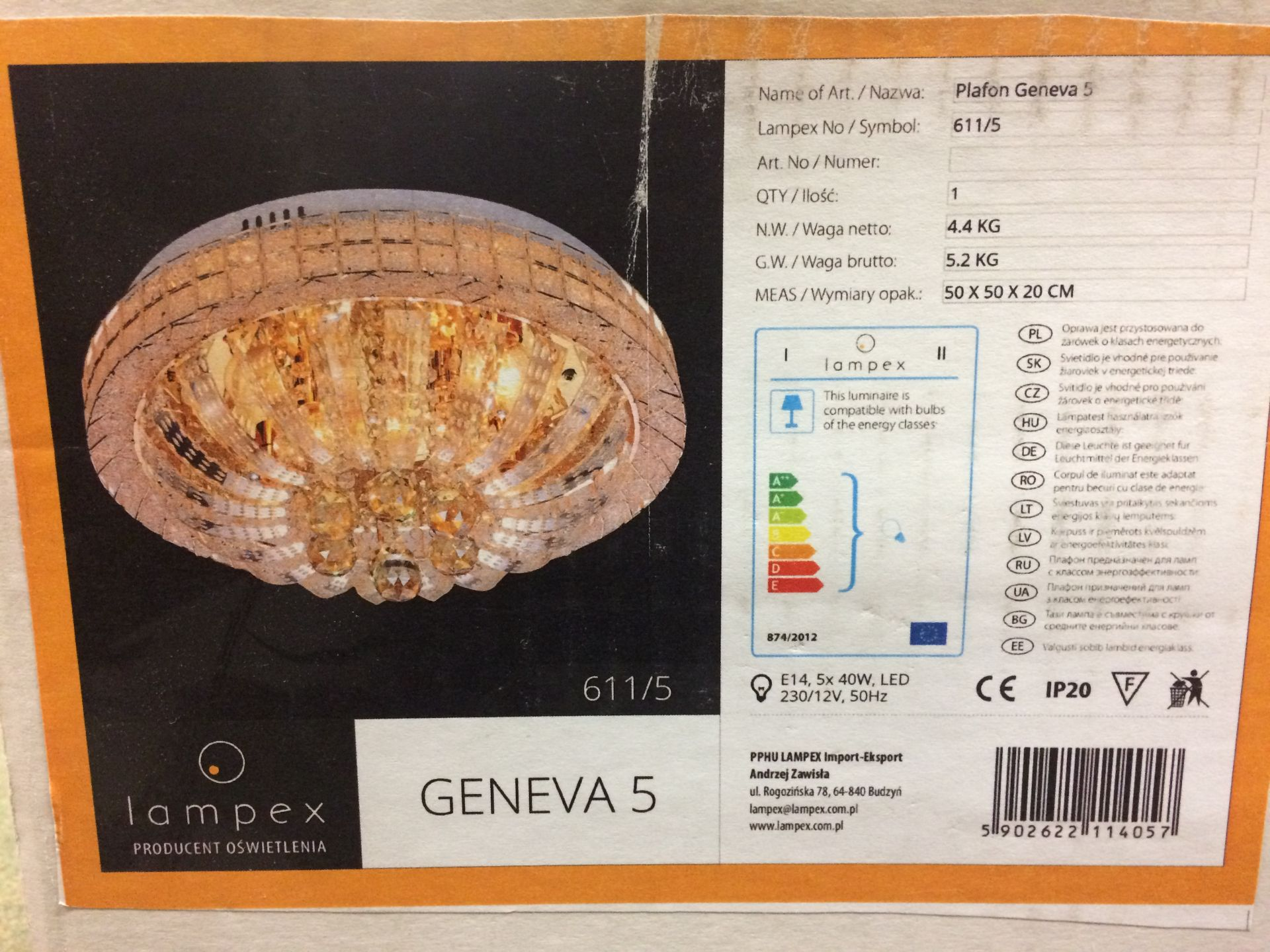 Hokku Designs Geneva LED 5 Light Flush M