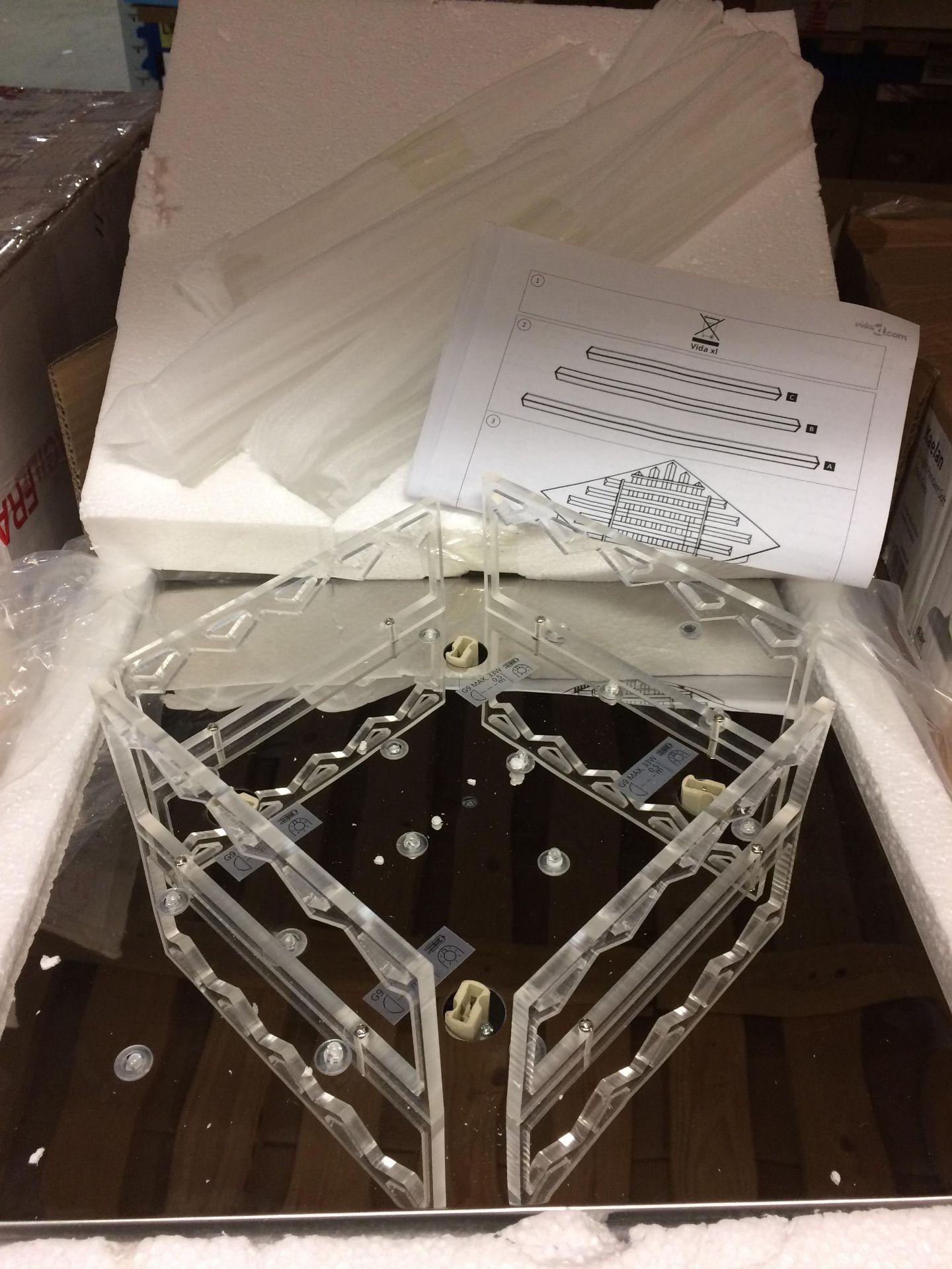 VidaXL 4 Light Flush Ceiling Light