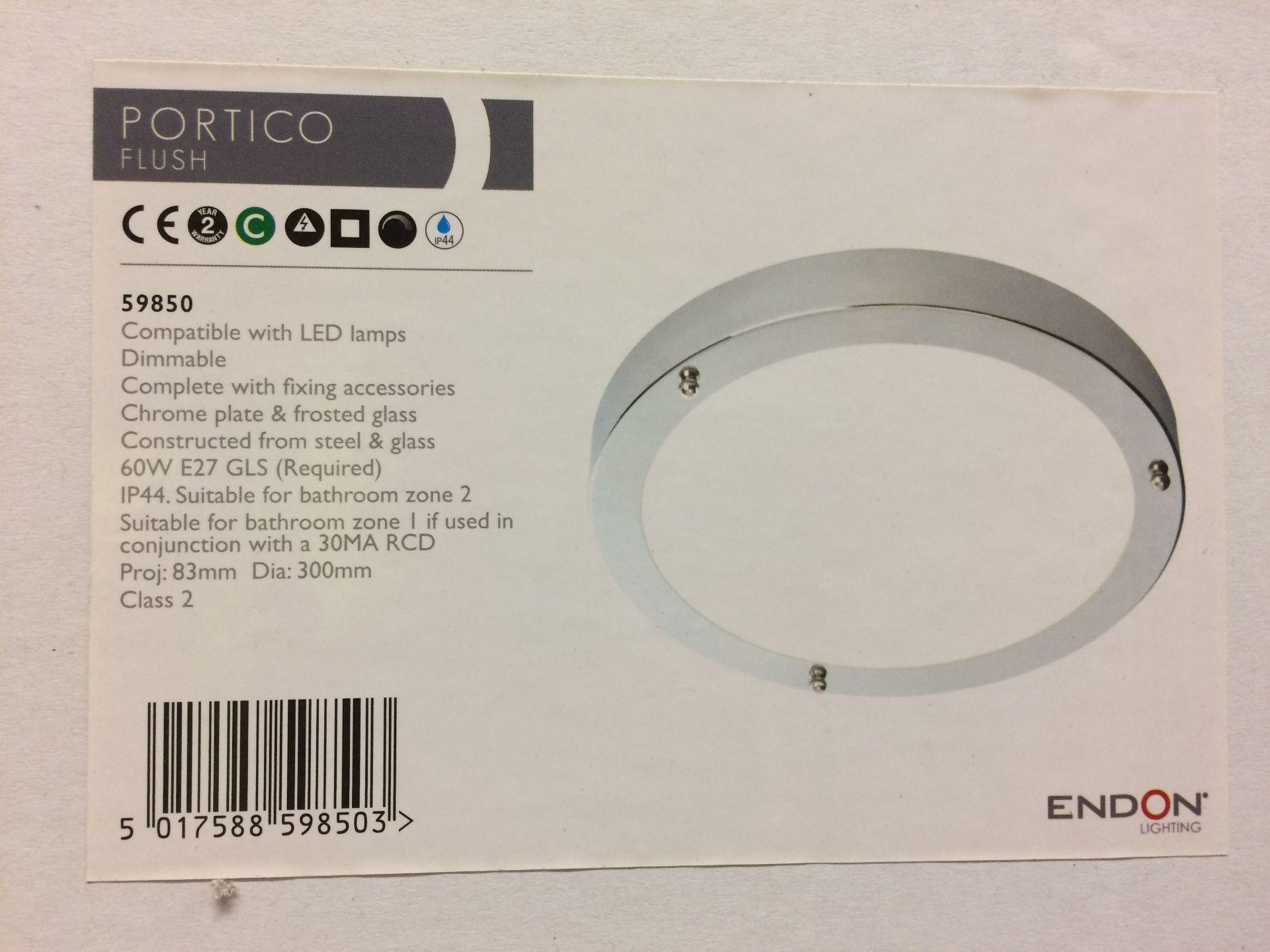 3 x Endon Lighting Portico 1-Light Flush