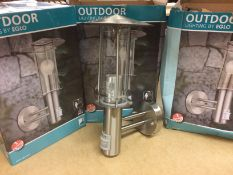 3 x Eglo Lisio 1 Light Outdoor Sconces w