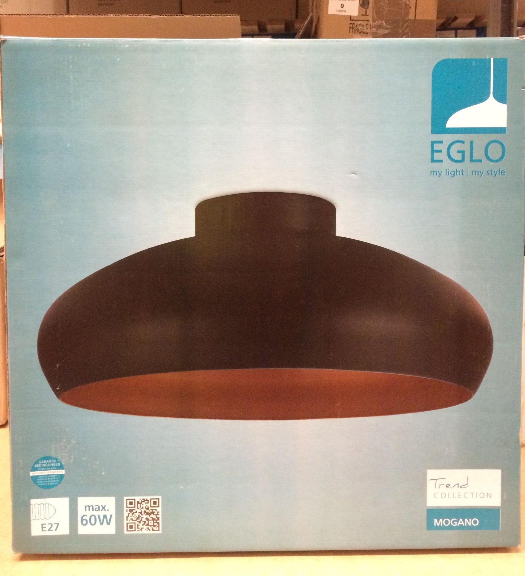 Eglo Mogano 1-Light Semi Flush Mount