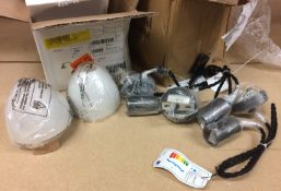 3 x Industville Edison 1-Light Dome Pend