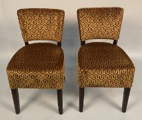 2 x Memphis Sekers Fernando Gold side/dining chairs
