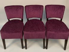 3 x Memphis Panaz Darcey Purple 412 side/dining chairs