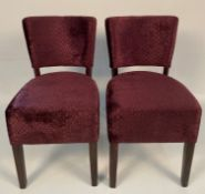2 x Memphis Panaz Jewel 406 Claret side/dining chairs