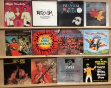 Twenty assorted LPs - musicals and easy listening - High Society, Requiem, The Phantom of the Opera,